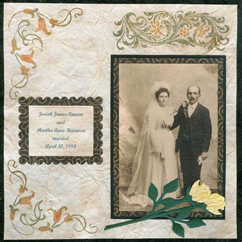 wedding layout images vintage wedding day scrapbook layout favecrafts com