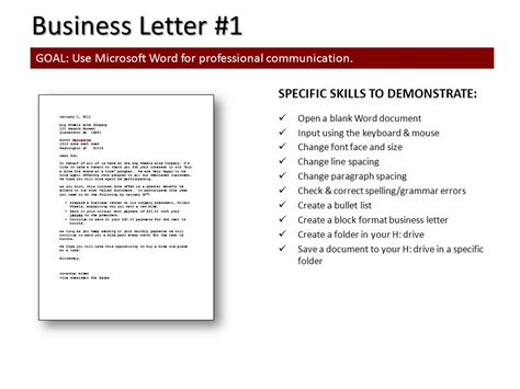 Business Letter Format On Computer 7 A Today In Computer Class