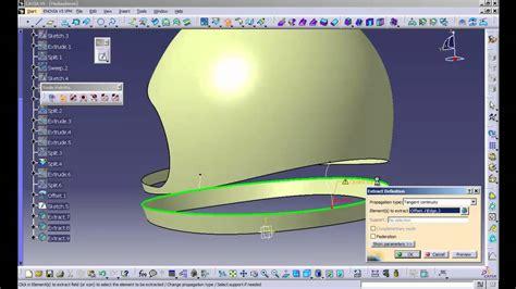 helmet design catia catia v5 r20 simple helmet design clip2 mp4 youtube