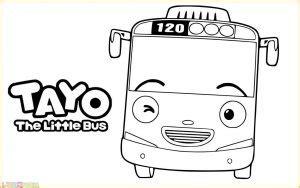 gambar mewarnai tayo   bus terlengkap