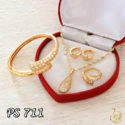 Set Perhiasan Xuping Chanel by Perhiasan Emas 1 Set Pusat Perhiasan Set