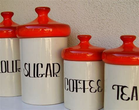 cute kitchen canister sets running with a glue gun vintage canisters