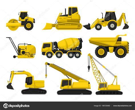 Materiel De Construction by Set De Vector Plate De Mat 233 Riel De Construction Machines