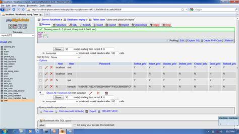 membuat view pada database mysql terserah com membuat grant dan revoke pada database mysql
