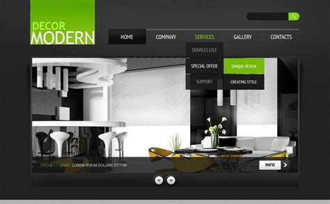 home interior websites plantilla psd 56694 para sitio de decoraci 243 n hogar