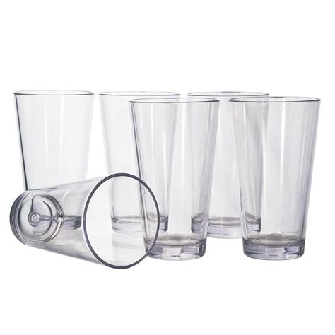 Transparent Glass 300ml clear transparent plastic 300ml unbreakable water glass