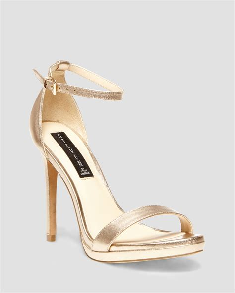 gold sandals high heels steven by steve madden sandals rykie ankle high