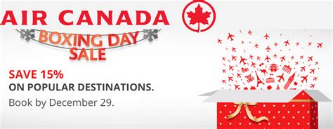 Promo Air air canada boxing day flights sale promo code 2016