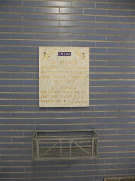 Plaque De Liege 1942 by Angleur Plaque En Souvenir Des D 233 Port 233 S Du Travail