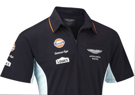 Kaos Polo Honda Racing Team polo shirt aston martin racing team replica le mans gulf navy sportscar xs us ebay