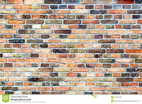 brick wall with various colors stock illustration image 44231194