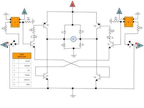 bipolar transistor h bridge bjt h bridge voltage readings using bipolar junction transistor electrical engineering stack