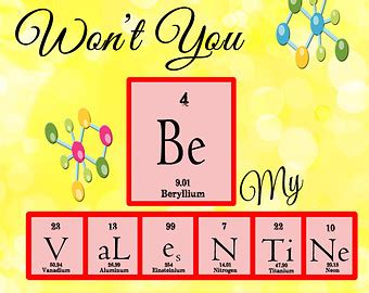 chemistry valentines day puns periodic table cards etsy