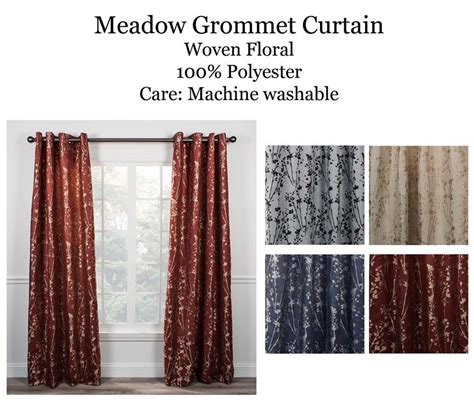 meadow curtains meadow grommet curtain panel www bestwindowtreatments com