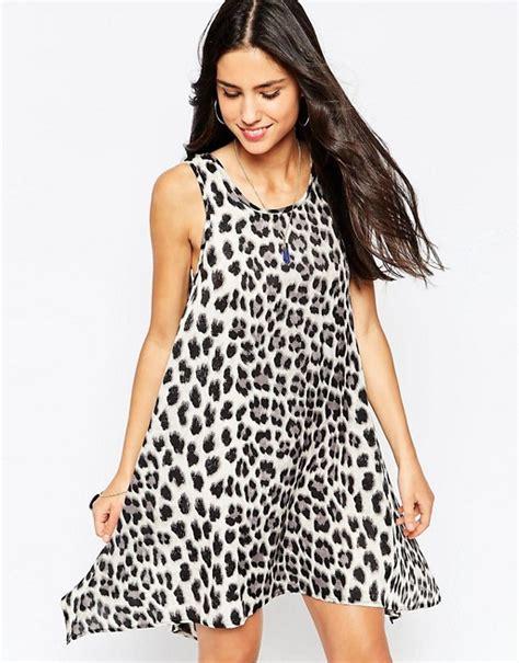 leopard print swing dress glamorous glamorous swing dress in leopard print