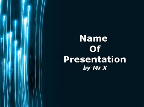 ppt templates free download electrical rayo de luz plantilla powerpoint plantillas power point com