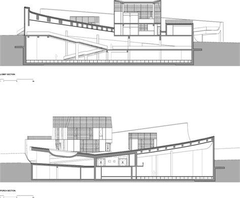 php section the cit 233 de l oc 233 an et du surf steven holl architects