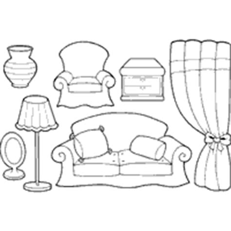 Coloring Pages Furniture House | furniture coloring page for kids to print and download for