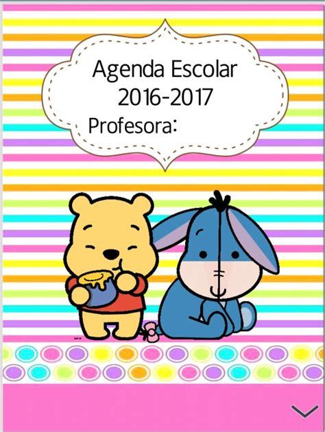 caratula escolar 2016 fabulosa agenda del ciclo escolar 2016 2017 did 225 ctica