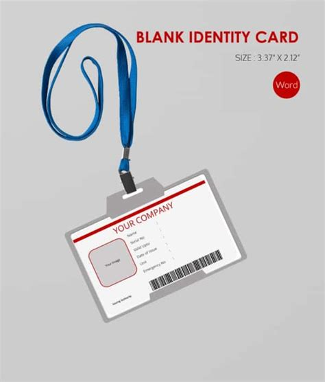 id card design word 30 blank id card templates free word psd eps formats
