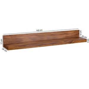 sheesham regal design massivholz wandregal 140 cm sheesham wandboard