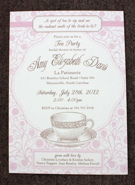 invitation wording for bridal shower tea invitation wording cimvitation