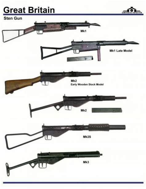 sten mk3 template pin re sten gun mk1 on
