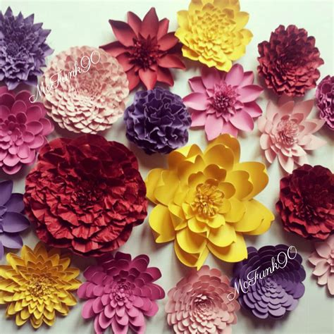 Large Paper Flowers - weddings handmade large paper flowers great for photo backdrop