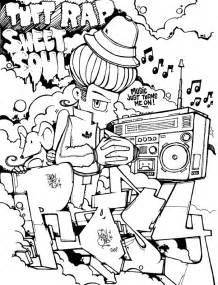 graffiti coloring book free coloring pages