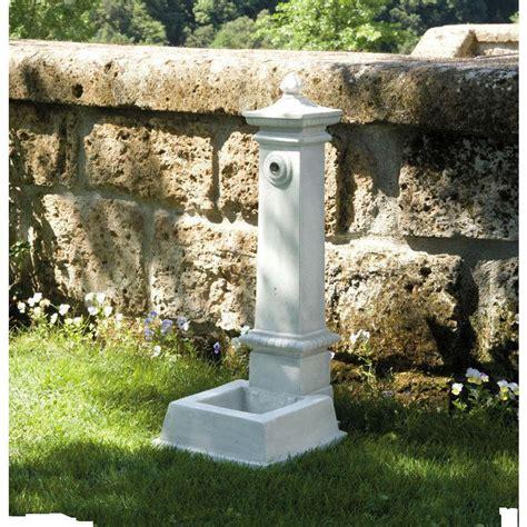 fontana da giardino in cemento marmo pietra esterno h 80