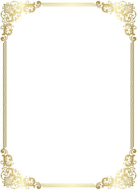 high quality clipart gold border frame transparent clip image gallery