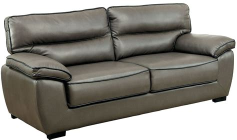 Faux Leather Living Room Furniture Lennox Gray Shined Faux Leather Living Room Set Cm6126 S Furniture Of America