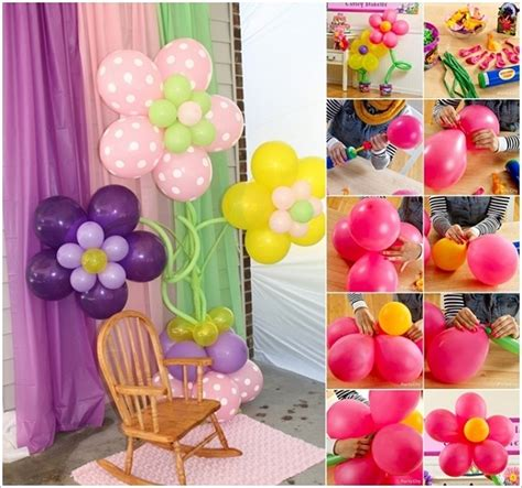 balloon diy decorations wonderful diy pretty balloon flowers for