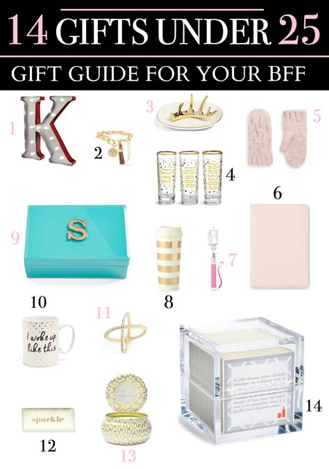 gifts under 25 gift guide for your bff 14 adorable gifts under 25