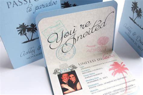 unique destination wedding invitation wording unique and customizable passport boarding by