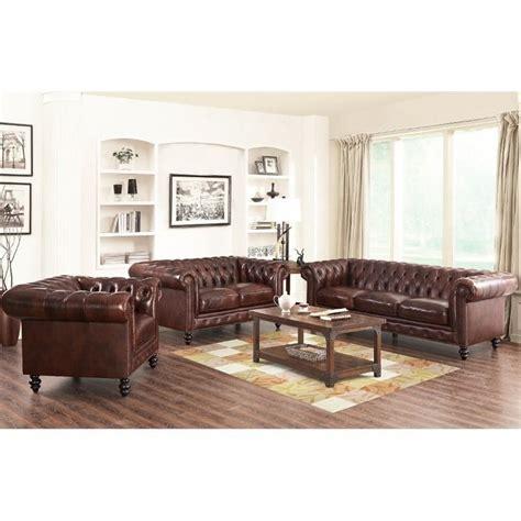torren 3 pieced leather sofa set modern living room leather 3 piece sofa set ufe norton dark brown faux
