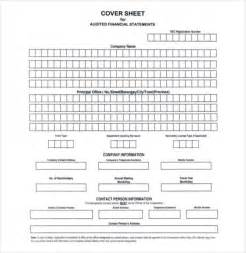 blank cover sheet 10 free word pdf documents download
