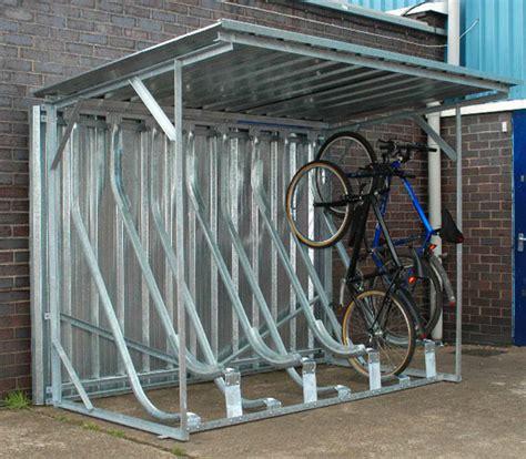 Upright Bike Shed by Bike Storage Rack Retrobike