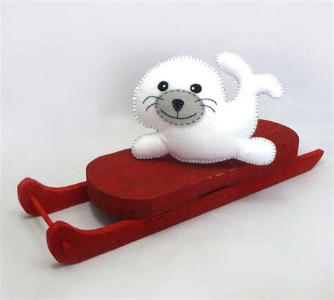 felt otter pattern stuffed seal pattern sew by hand plush felt stuffed