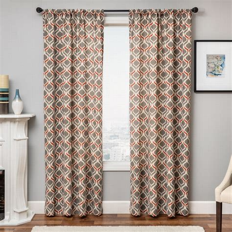 Orange And Grey Curtains Orange Curtains Panels Panel Curtains For Living Room Bedroom Temple In Floral Environment