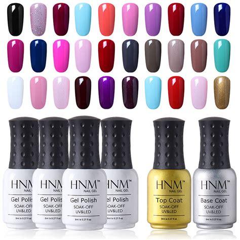 gel nail without led l hnm soak color gel nail base top coat uv led