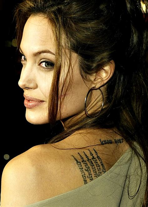 angelina jolie tattoo wallpaper angelina jolie new tattoos designs images 2013 hollywood