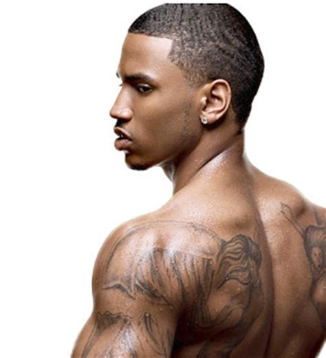 trey songz chest tattoo trey songz on chest
