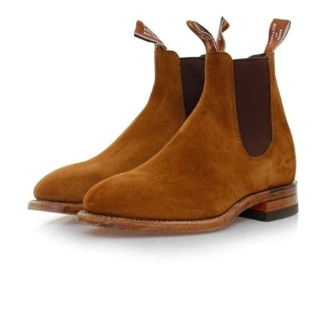 R M Williamsgilchrist Suede Boots rm williams craftsman tobacco suede chelsea boots