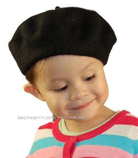 child in french kid toddler child french wool dance party cap hat beret