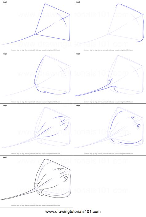how to draw a doodle step by step how to draw a stingray printable step by step drawing