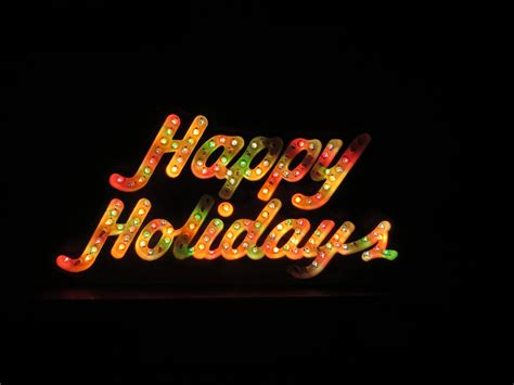 holidays lighted sign vintage retro light up sign by eclecticsettings