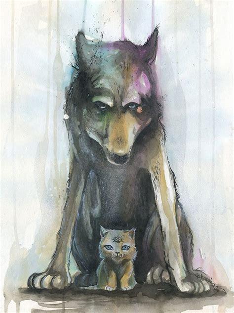 wolf kitten  phresha redbubble