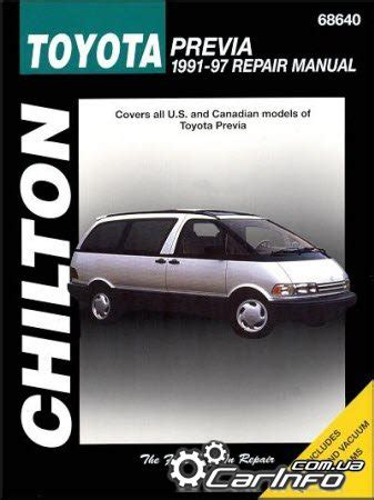 auto manual repair 1997 toyota previa electronic toll collection toyota tarago previa 1991 1997 chilton repair manual auto repair manual forum heavy