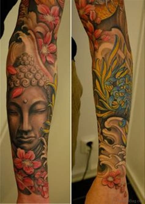 buddha tattoo sleeve 55 new style buddha on sleeve